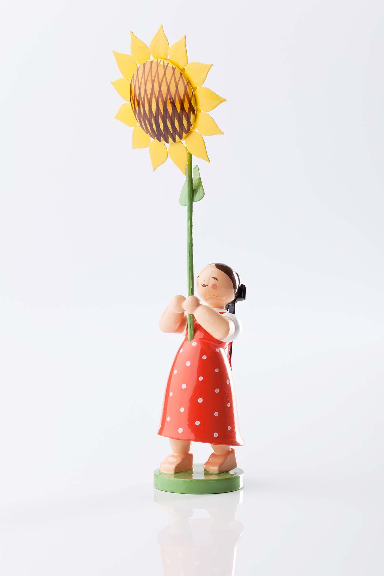 Blumenkind Mädchen mit Sonnenblume 5248/7
