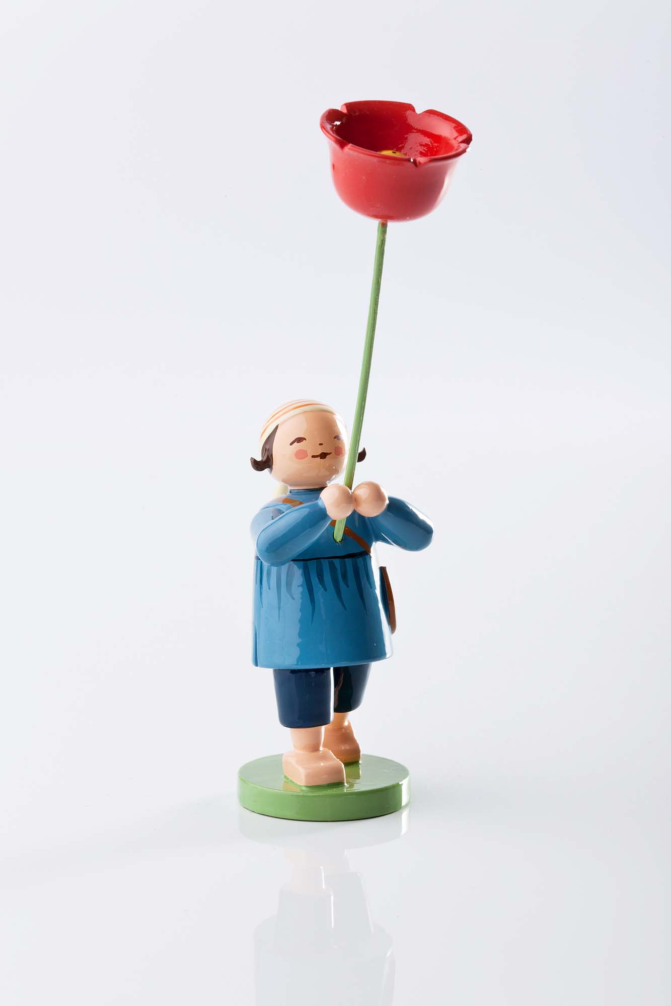 Blumenkind Junge mit Mohnblume 5248/8