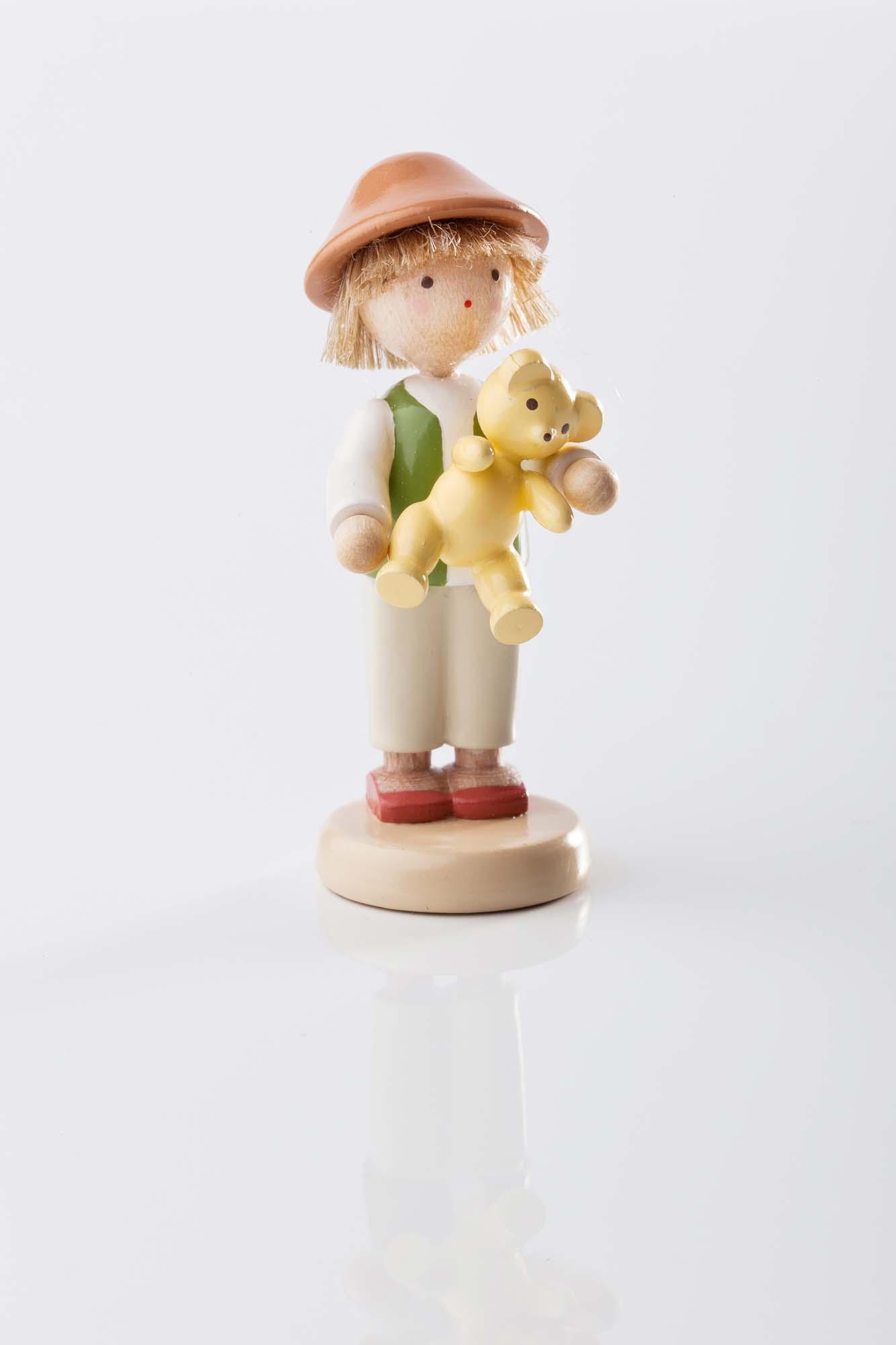 Junge mit Teddy 5119