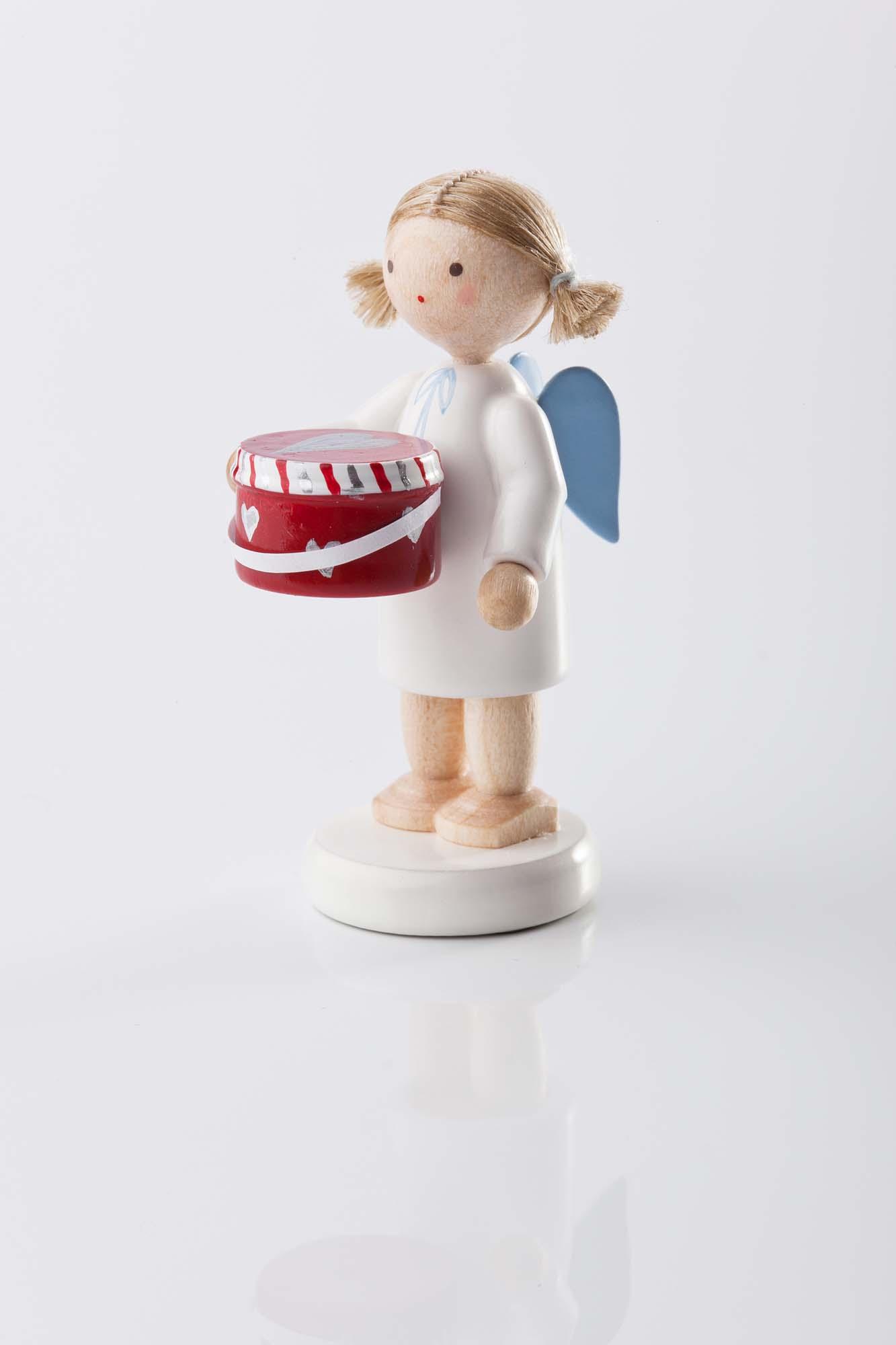 Engel mit Hutschachtel 6160