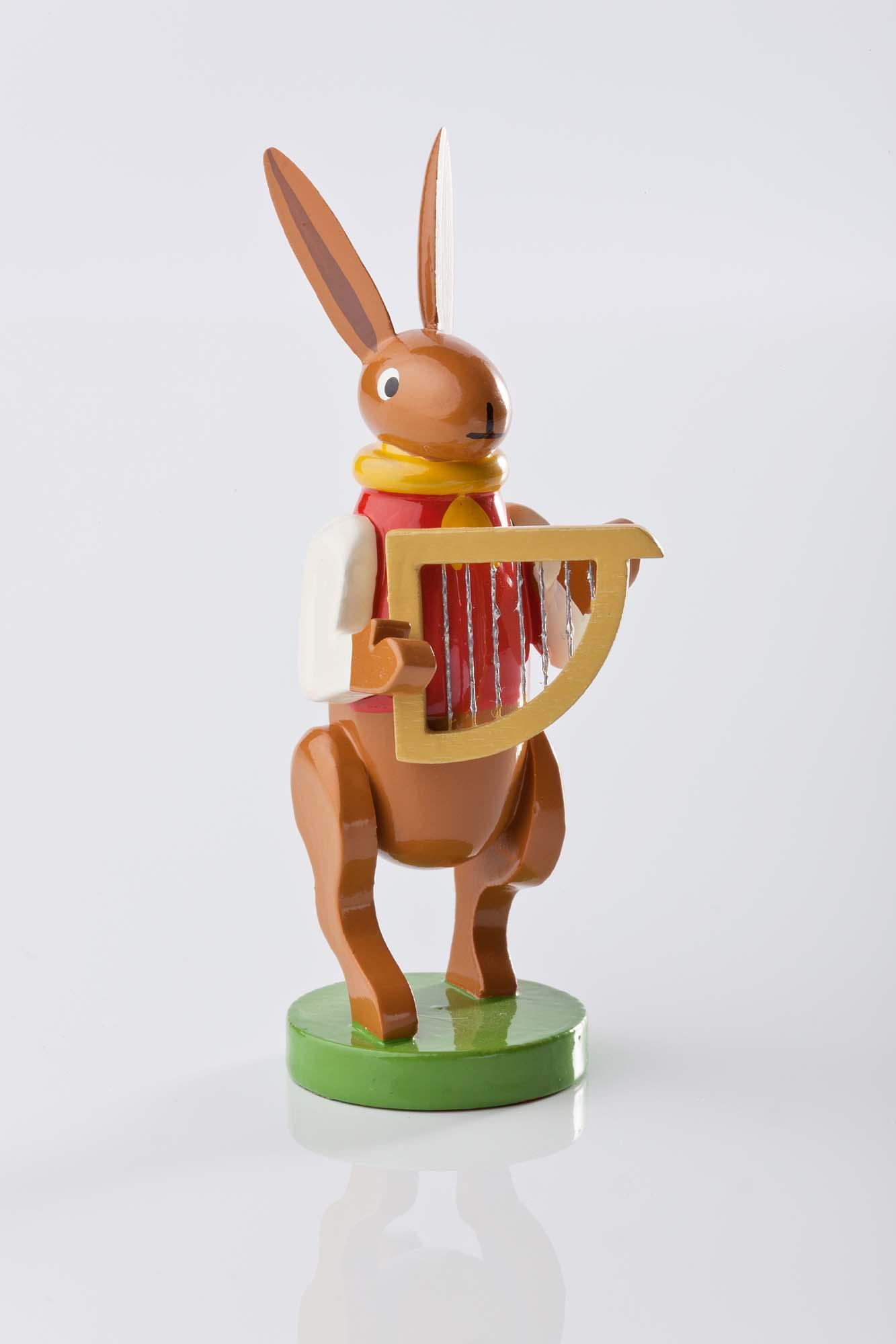 Hasenmusikanten mit Harfe 5350/14b
