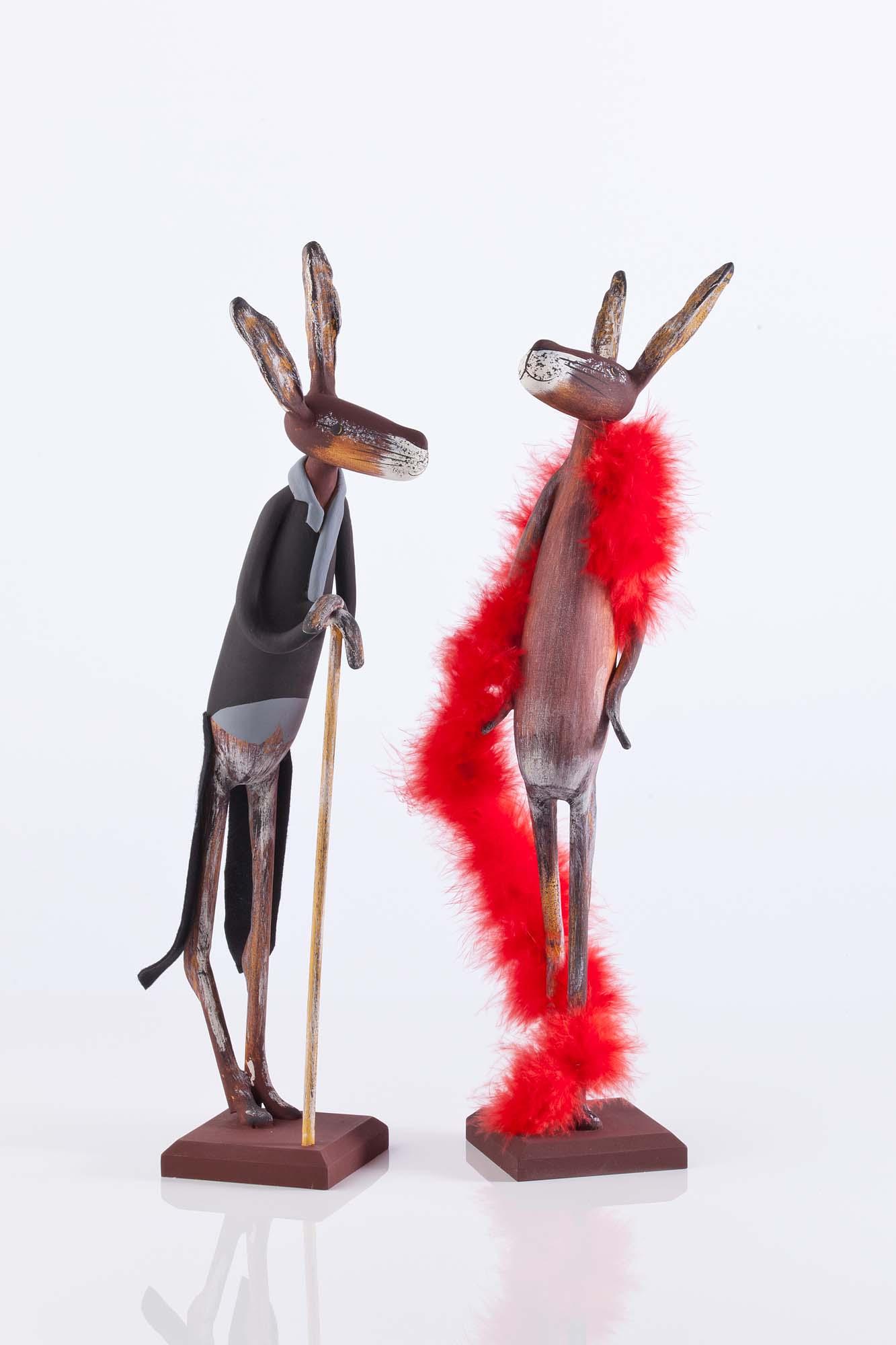 Herr und Frau Lampe ca. 40cm hoch