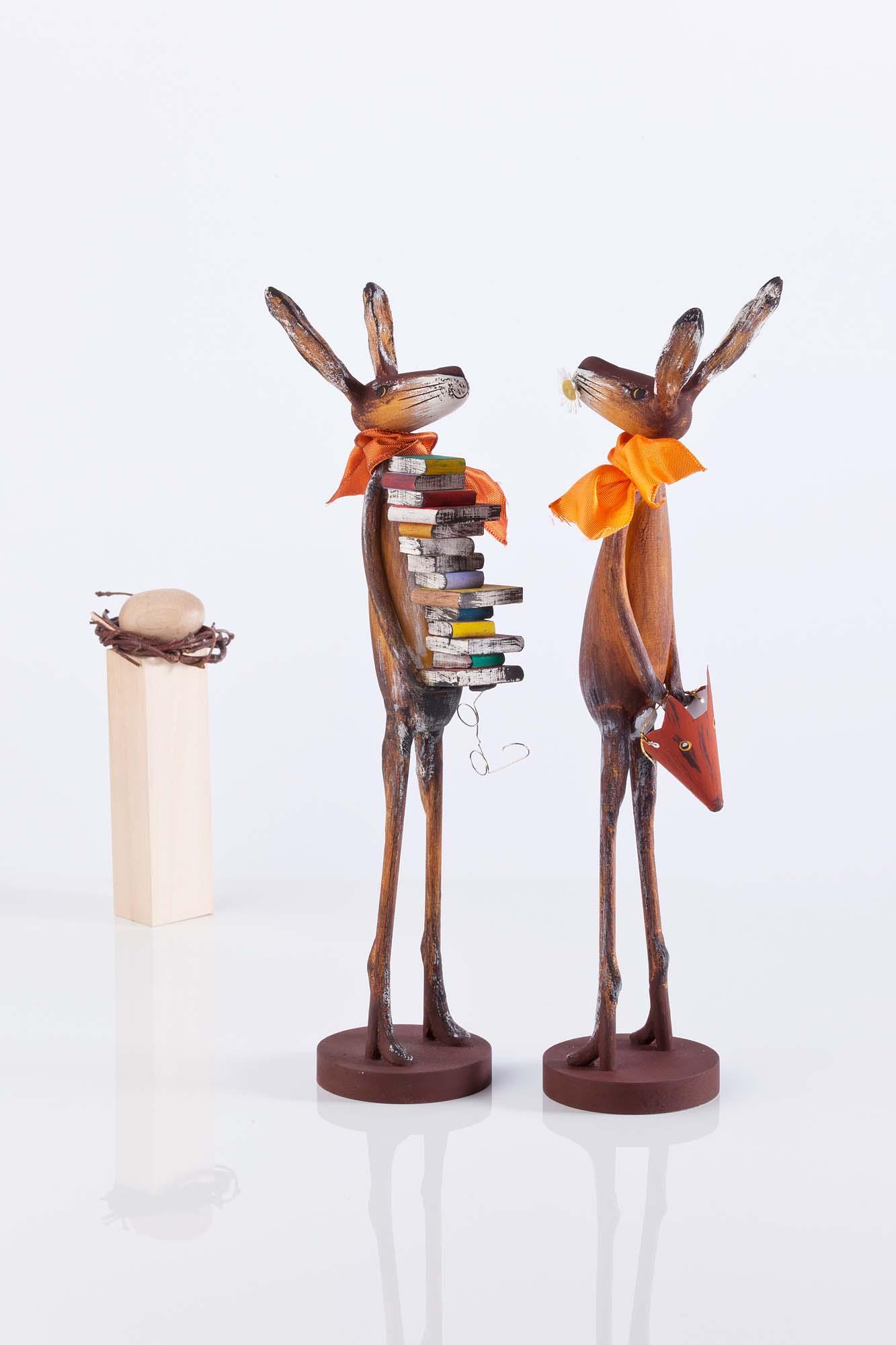 Bücherschreck und Hasenschreck ca. 30cm hoch