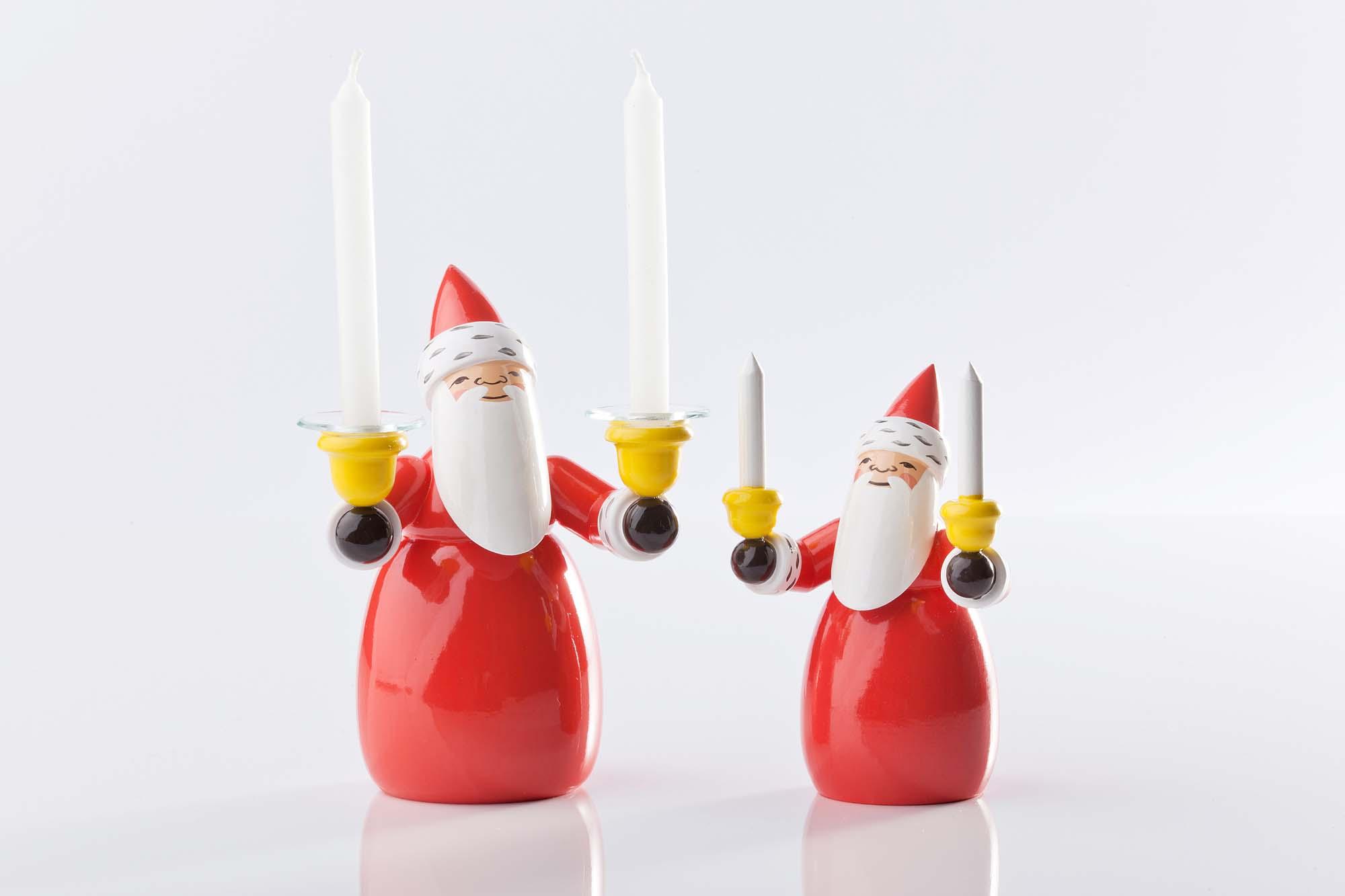 Weihnachtsmann mit Kerzen, 5301/2 und mit Lichtertüllen, 5301/3