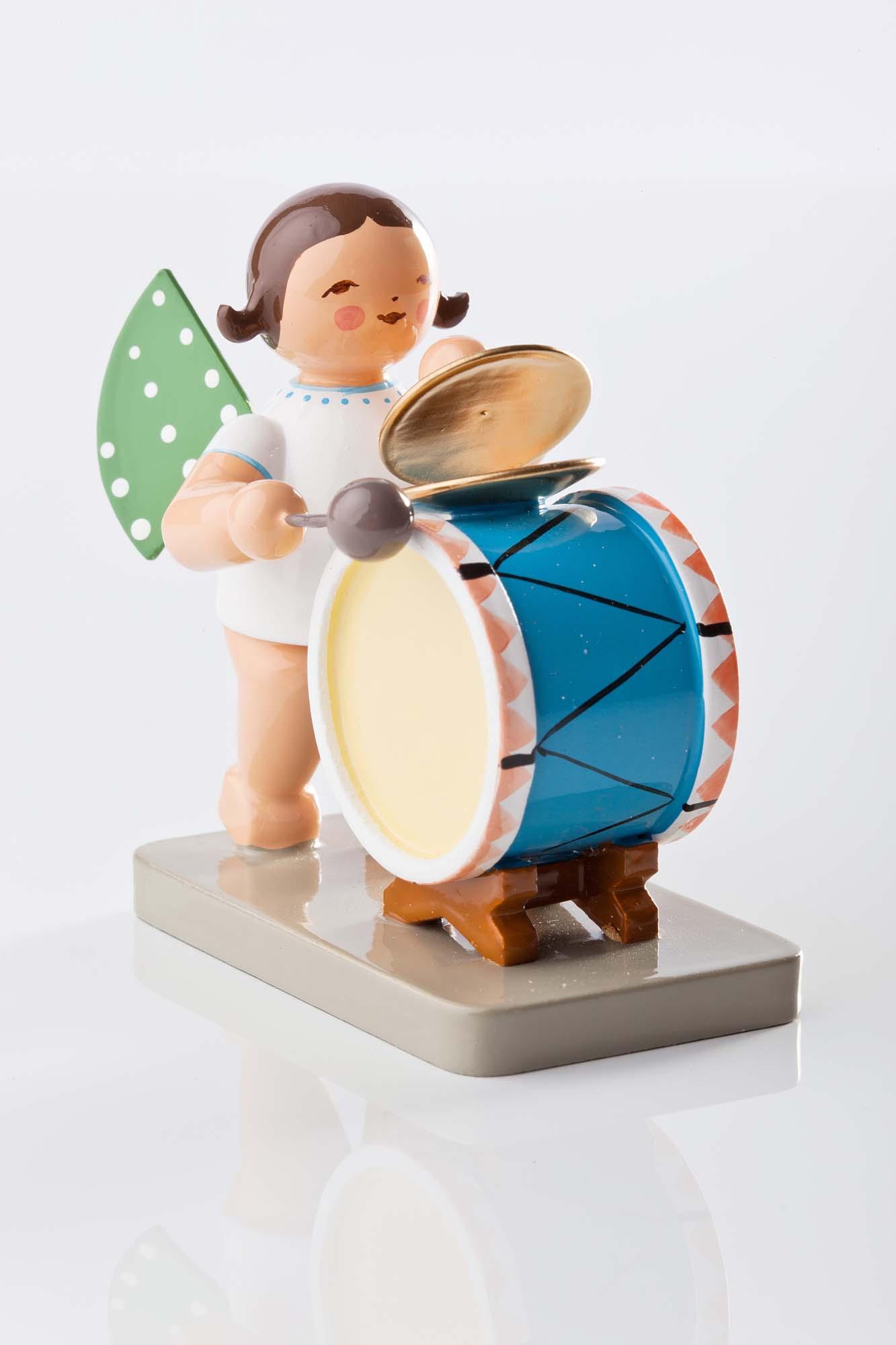 Grünhainichener Engel mit Schlagzeug 650/44